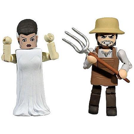 The Bride Of Frankenstein   Villager Minifigure 2 Pack Minimates