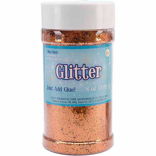 Metallic Glitter 8 Ounces-Black