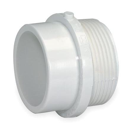 - MUELLER INDUSTRIES Male Fit Adapter,2 In,MNPTxSpigot,PVC 1WKU4