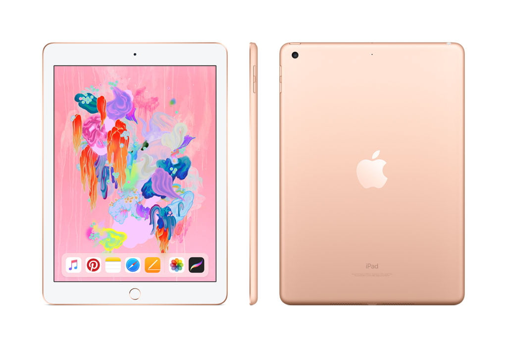 Apple iPad (6th Gen) 32GB Wi-Fi - Gold - Walmart.com - Walmart.com