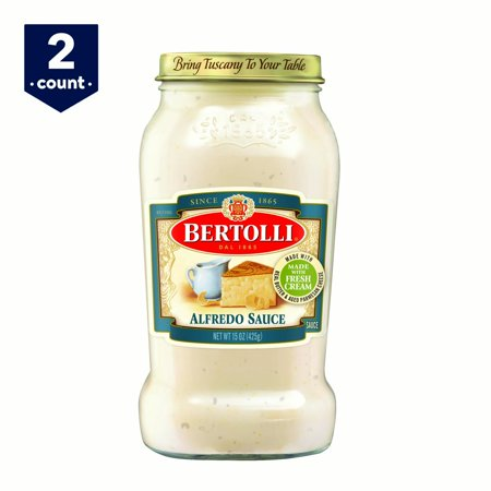 (2 pack) Bertolli Alfredo Sauce 15 oz (Cheese Sauce With Water Instead Of Milk)