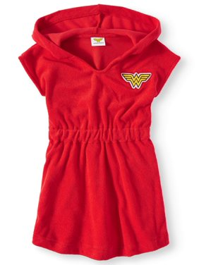 Wonder Woman Hooded Swim Cover-Up (Toddler Girls)