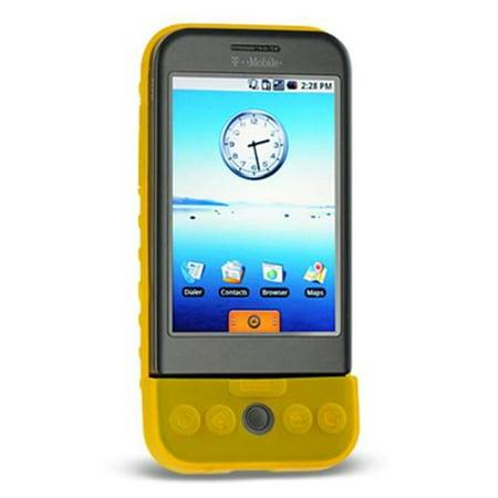 DreamWireless SCHTCG1YL-PR HTC Dream & G1 Premium Skin Case - Yellow Htc G1 Skins
