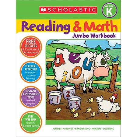 Reading & Math Jumbo Workbook: Grade K - Halloween Math Games For 1st Grade