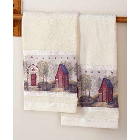 Outhouse Bathroom Collection-Set of 2 Hand Towels (Outhouse Bathroom Towel Sets)