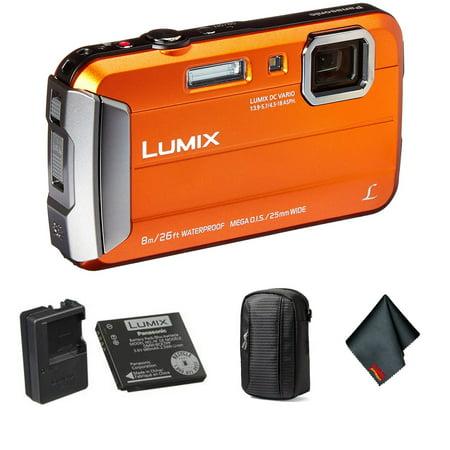Panasonic Lumix Waterproof Digital Camera Bundle with Small Case and
