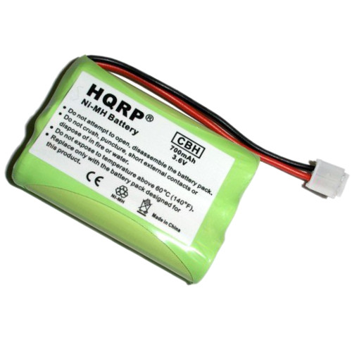 HQRP Cordless Phone Battery compatible with General Electric GE 5-2461 / 52461, 5-2569 / 52569, 5-2637 / 52637, 5-2705 / 52705, 5-2781 / 52781 Replacement plus Coaster