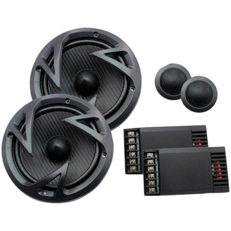 Power Acoustik EF-60C Edge Series 6.5 500-Watt 2-Way Component Speaker (60c Series)
