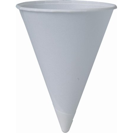 200 Piece Cup Company Cone Water Cups, Cold, Paper, White, 4 oz., Sold as 200 EA By SOLO - Construction Cone Cups