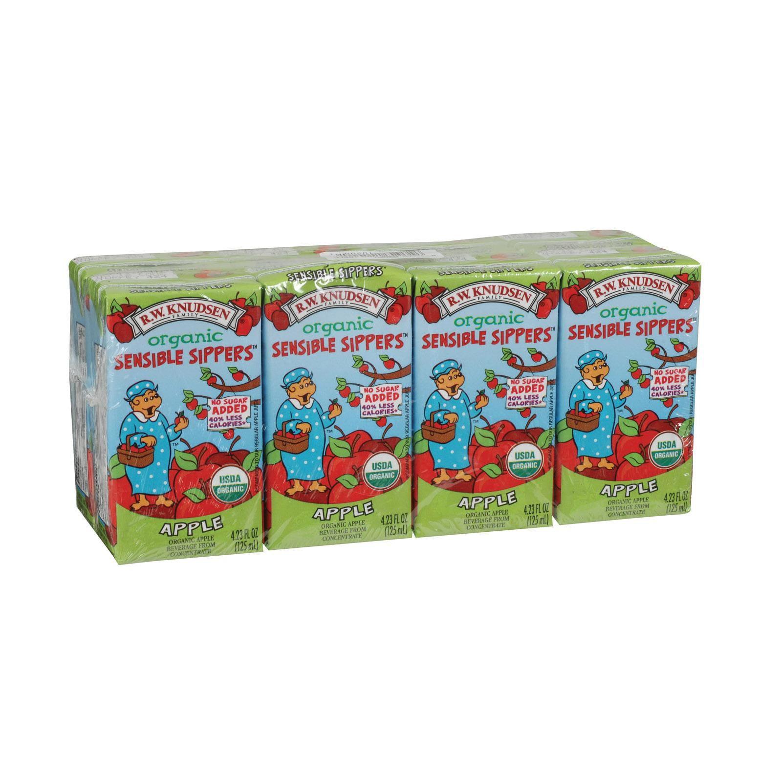 R.w. Knudsen Organic Sensible Sippers - Apple - Pack of 5 - 4.23 Fl Oz.