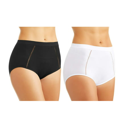 Skinnygirl By Bethenny Frankel  Shaping Brief With Drop Needle Stitching   2 Pack