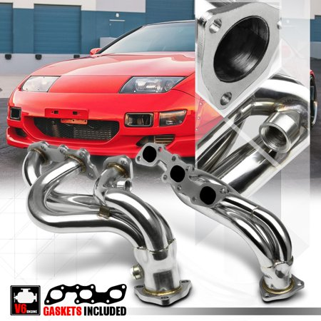 Stainless Steel Exhaust Header Manifold for 90-96 Nissan 300ZX NA Z32 Non-Turbo 91 92 93 94 95