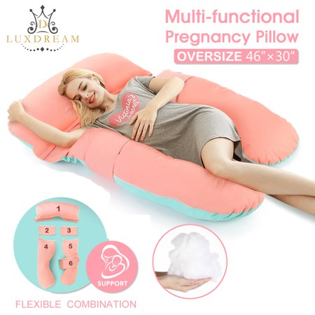 d75aaf7b2aba8 Luxdream U Shaped Full Body Pregnancy Pillow Baby Nursing Cushion & Maternity  Pillow for Pregnant Women