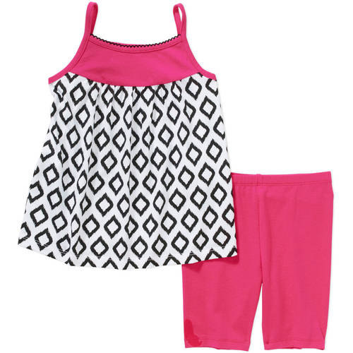 Healthtex Toddler Girl Sleeveless Knit Tunic and Leggings Outfit Set