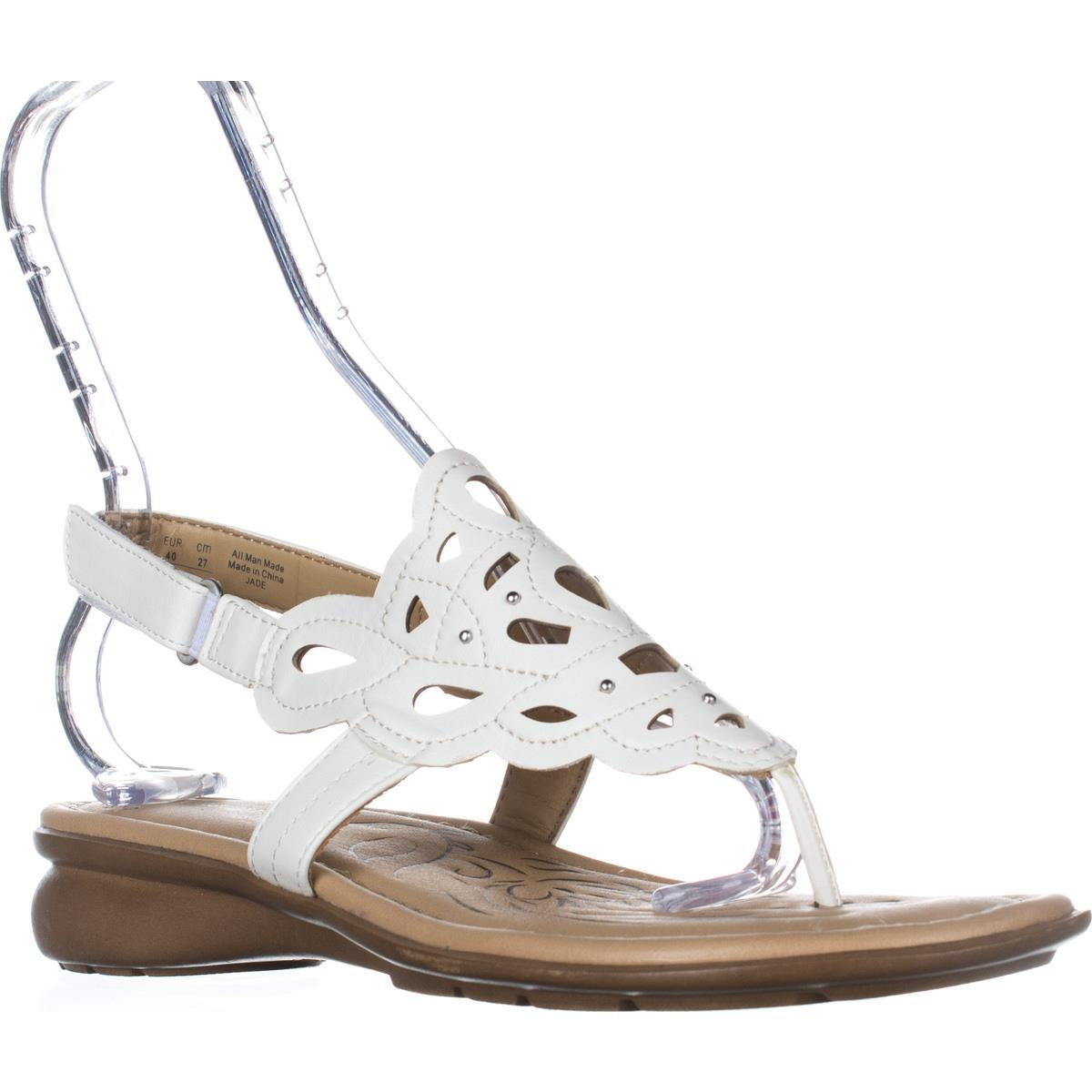 Womens Naturalizer Jade Thong Round Toe Sandals, White by Naturalizer