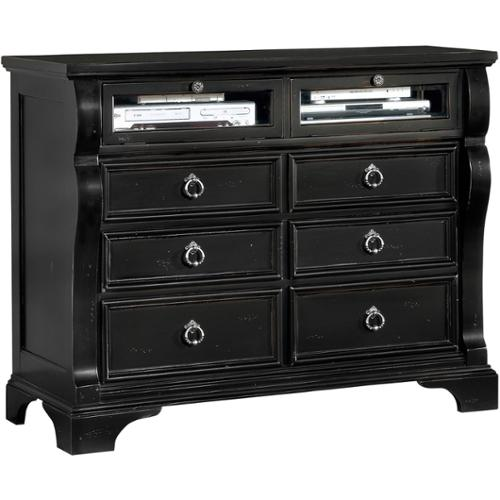 Greyson Living Traditions 6-drawer Entertainment Chest Traditions Black Entertainment Chest