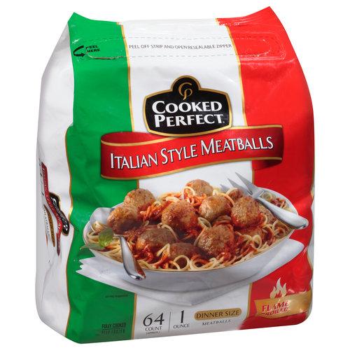 Cooked Perfect® Italian Style Meatballs 64 oz. Bag