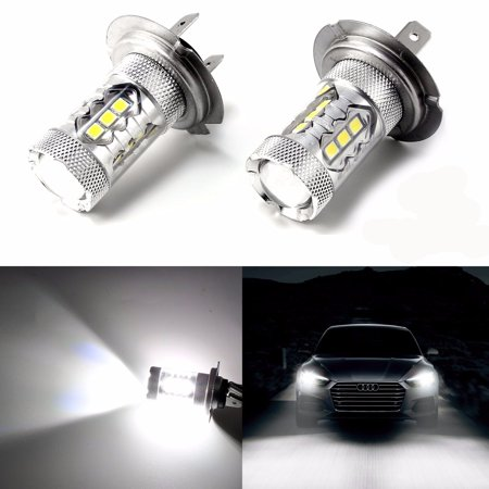 Bmw Fog Light Bulb - Xotic Tech 2pc H7 Xenon White 80W Error Free LED Bulbs For VW Audi BMW Mercedes DRL Fog Lights