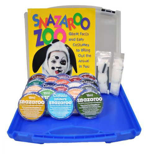 Snazaroo 18 Color Professional Face Painting Set w/ Case Sparkle Classic Colors