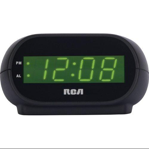 "Rca Rcd20 Alarm Clock With 0.7"" Green Display"