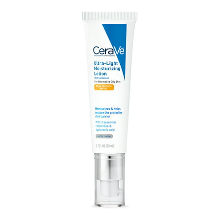 CeraVe Ultra-Light Moisturizing Face Lotion with SPF 30, 1.7 oz. Light Moisturising Cream
