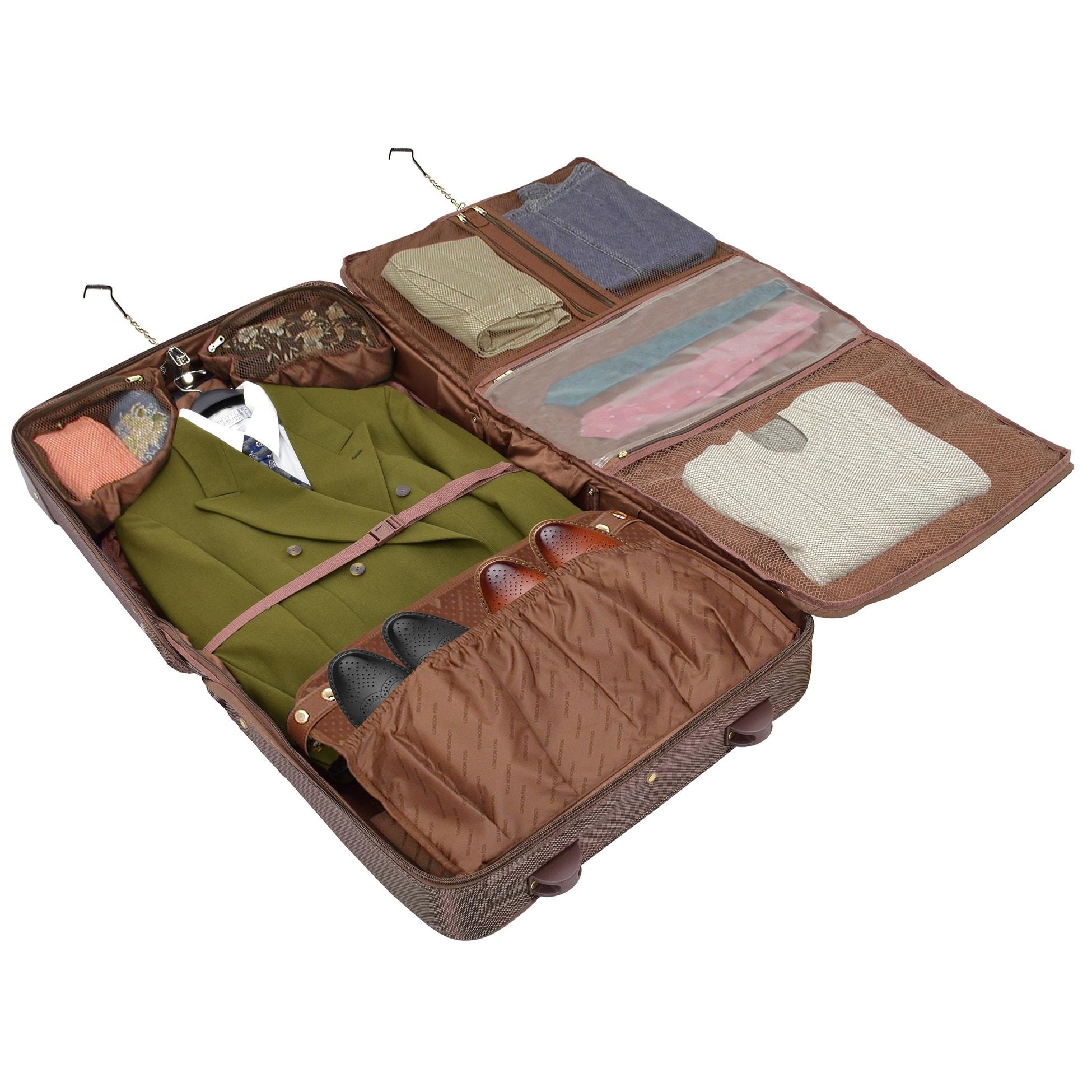 London Fog Kensington Ultra Lightweight Collection 44inch Wheeled Garment Bag Bronze