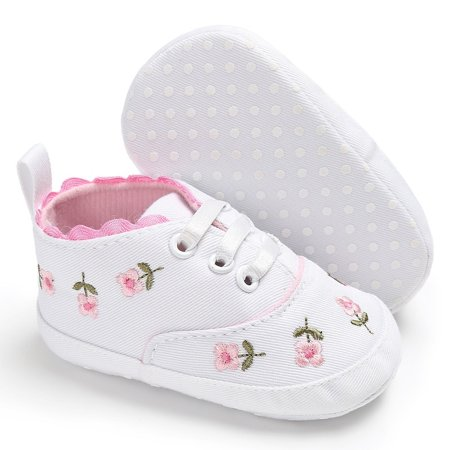 Flower Baby Kid Girl Soft Sole Crib Toddler Summer Princess Shoes Advice 0-18 Months - image 1 of 5