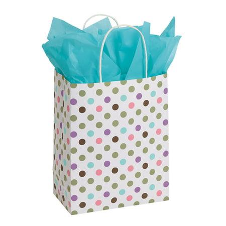 Paper Shopper - Medium Playful Polka Dot (Dots Shoppers)