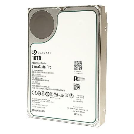 Seagate 10TB BarraCuda Pro 7200RPM SATA 6GB/s 256MB Cache 3.5-Inch Internal Hard Drive ST10000DM0004  (Manufactured Refurbished with Zero Hours Usage) Cache 7200rpm Internal Hard Drive