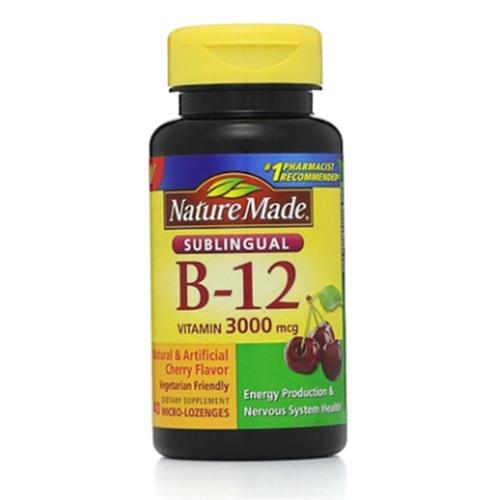 Nature Made Vitamin B-12 3000mcg, Sublingual Lozenges, Cherry 40 ea (Pack of 4)