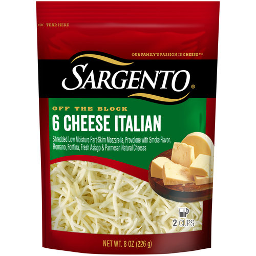 Sargento Chef Blends 6 Cheese Italian Shredded Cheese, 8 oz