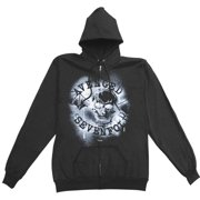 Avenged Sevenfold Spray Girls Jr Hooded Sweatshirt X-Small Black