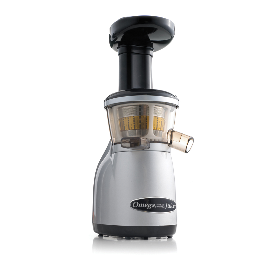 Omega VRT350X Heavy Duty  Vertical  Low Speed Juicer Silver Factory Certified