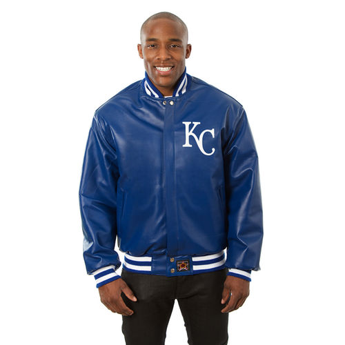Men's JH Design Royal Kansas City Royals Team Color Leather Jacket