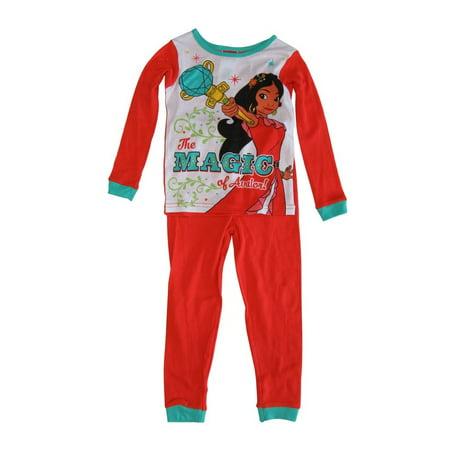 Disney Girls Coral Princess Elena of Avalor 2 Pcs Long Sleeve - Boutique Pajamas