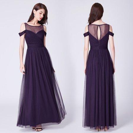1086a5e0ce Ever-pretty - Ever-Pretty Women s Off Shoulder A-Line Floor-Length Cocktail  Party Prom Evening Ball Gown for Women 07441 US 8 - Walmart.com
