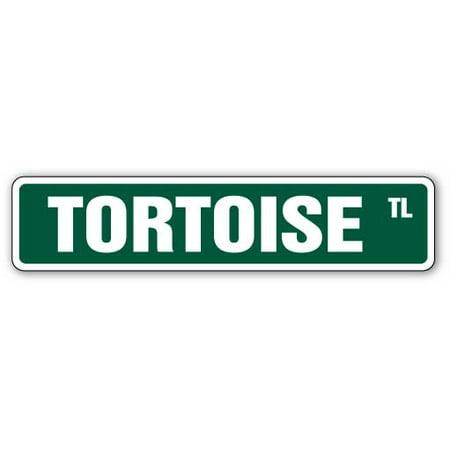 TORTOISE Street Sign turtle turtles lover collector fun | Indoor/Outdoor | 24