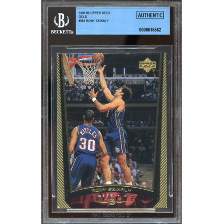 1998-99 upper deck gold #281 RONY SEIKALY new jersey nets 1 of 1 BGS authentic