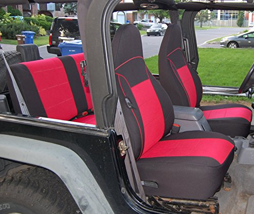Gearflag Jeep Wrangler TJ Neoprene Seat Cover Custom Fit 1997 02 (Front +  Rear