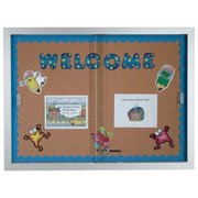Aarco Products SBC3648 Enclosed Bulletin Board Cork with Aluminum Frame