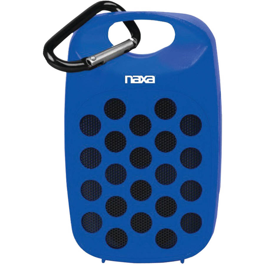 Naxa NAS-3047 Water-Resistant Bluetooth Speaker, Blue