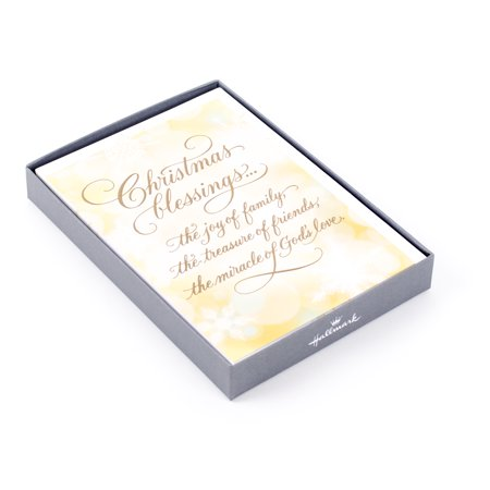 Hallmark Religious Christmas Boxed Cards, Christmas Blessings (16 Cards and 17 Envelopes) - Tinkerbell Christmas Cards