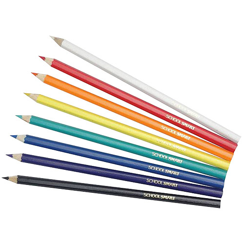 "School Smart Colored Pencils Classroom Pack, 7"", Assorted Colors, Pack of 480"