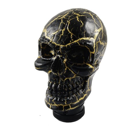 Unique Bargains Car Auto Universal Manual Wicked Carved Skull Head Gear Stick Shift Knob Shifter ()