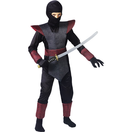 Ninja Fighter Child Halloween Costume  sc 1 st  Walmart : skull ninja costume  - Germanpascual.Com