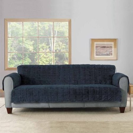 Awesome Sure Fit Faux Fur Throw Quilted Loveseat Slipcover With Arms Caraccident5 Cool Chair Designs And Ideas Caraccident5Info