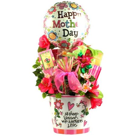 Mothers Day Tulips Cookie Basket - Gift Basket Drop Shipping AMoHe A Mothers Heart, Mothers Day Gift Arrangement