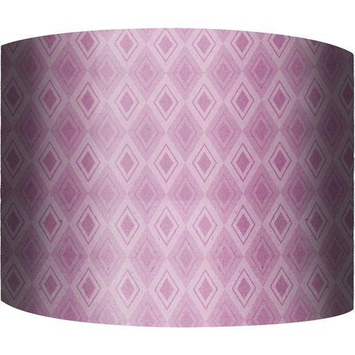"12"" Drum Lamp Shade, Purple Pattern"