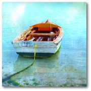 Courtside Market Color Tint Boat Gallery-Wrapped Canvas Wall Art, 16x16
