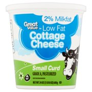 Great Value Low Fat Cottage Cheese, Small Curd, 24 oz